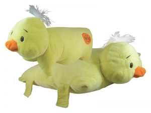YELLOW PLUSH DUCK CUSHION