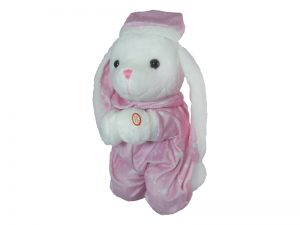 PLUSH PRAYING BUNNY 12IN W/SOUND