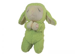 PLUSH PRAYING LAMB LIME GREEN 12IN W/SOUND