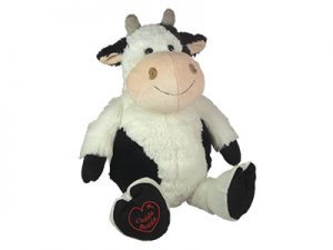 PLUSH CUDDLE BUDDIE COW 12″