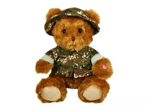 PLUSH CAMO BEAR W/I'M IN THE LORD'S ARMY