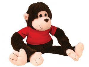 PLUSH GIGGLE MONKEY GOD LOVES YOU