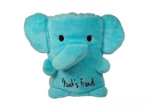 BLANKET FLEECE ELEPHANT FACE BLUE