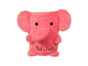 BLANKET FLEECE ELEPHANT FACE PINK