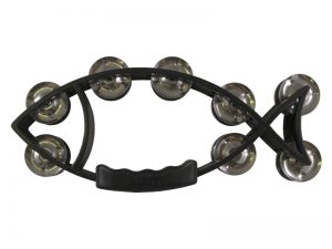 TAMBOURINE FISH BLACK 11inX5in