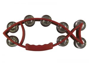 TAMBOURINE FISH RED 11inX5in