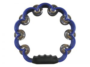TAMBOURINE SCALLOPED BLUE 8in