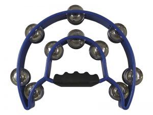 TAMBOURINE DOUBLE MOON BLUE 10.5inX8.5in