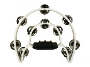 TAMBOURINE DOUBLE MOON WHITE 10.5inX8.5in