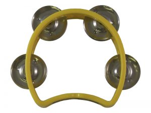 TAMBOURINE YELLOW SMALL 4IN