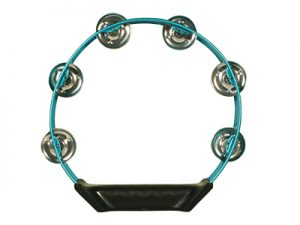 TAMBOURINE ALUMINUM BLUE 8in