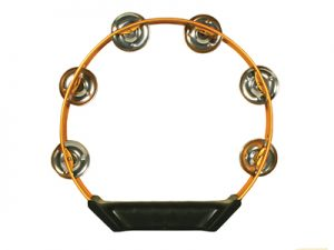 TAMBOURINE ALUMINUM ORANGE 8in