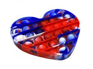 PEACE POPPER HEART – RED, WHITE, BLUE