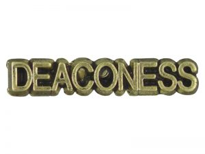 ANTIQUE GOLD DEACONESS LAPEL PIN  – PACK OF 12