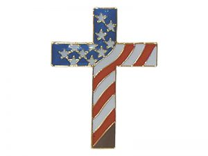 LAPEL PIN CROSS OF AMERICA PK6