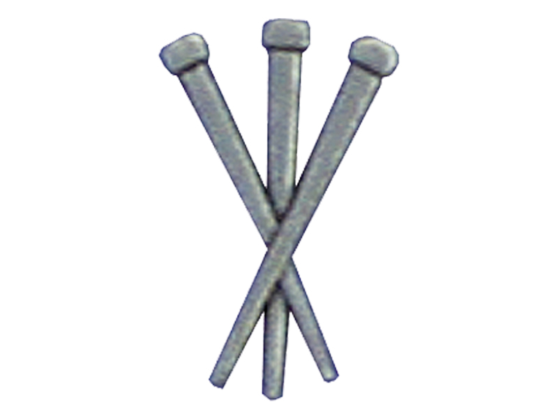 LAPEL PIN 3 NAILS OXIDIZED SILVER PK12
