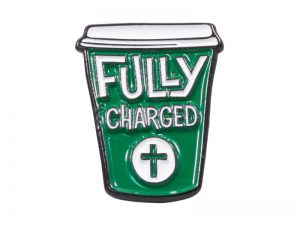 """LAPEL PIN """"FULLY CHARGED"""" – PK6"""