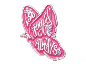 "LAPEL PIN ""BE JOYFUL ALWAYS"" – PK6"