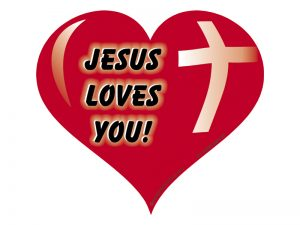 MAGNET HEART JESUS LOVES YOU – PACK OF 6