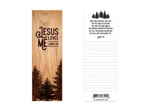 BOOKMARK JESUS LOVES ME JOHN 3:16 PK25