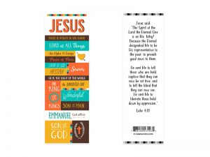 BOOKMARK NAMES OF JESUS PK25