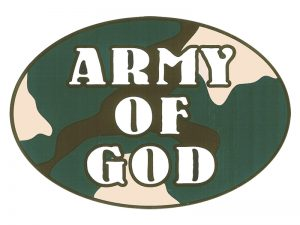 EURO STICKER ARMY OF GOD – PACK OF 6