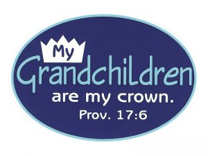 EURO STICKER MY GRANDCHILDREN/PROV. 17:6 – PACK OF 6