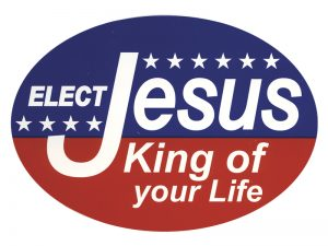 EURO STICKER ELECT JESUS KING OF YOUR LIFE – PACK OF 6