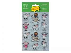 STICKERS FOIL THE LORD IS MY SHEPHERD 24CT PK10