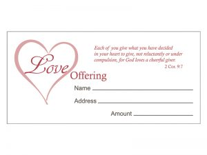 OFFERING ENVELOPE LOVE 100CT