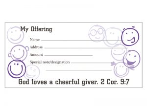 OFFERING ENVELOPE CHEERFUL GIVER 100CT