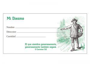 OFFERING ENVELOPE SPANISH MI DIEZMO 100CT