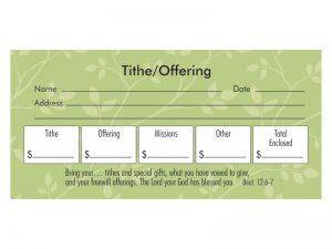 OFFERING ENVELOPE DEUT.12:6-7 TITHE/OFFERING 100CT
