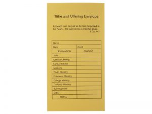 OFFERING ENVELOPE TITHE & OFFERING 100CT