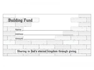 OFFERING ENVELOPE BUILDING FUND 100CT
