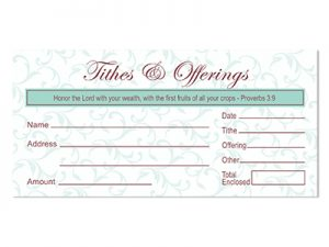 OFFERING ENVELOPE TITHES & OFFERING PROVERBS 3:9 100CT