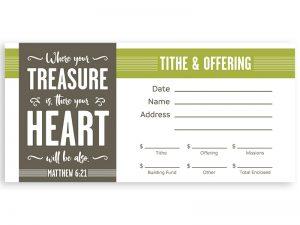 OFFERING ENVELOPE TREASURE MT 6:21 100CT