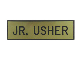 BADGE ENGRAVED JR. USHER GOLD PIN