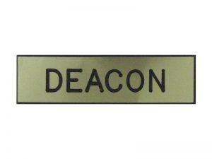 BADGE ENGRAVED DEACON GOLD PIN