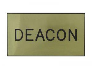 BADGE ENGRAVED DEACON GOLD MAGNET