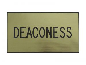 BADGE ENGRAVED DEACONESS GOLD MAGNET