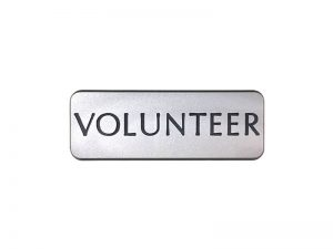 BADGE ENGRAVED CONTEMPORARY VOLUNTEER SILVER MAGNET