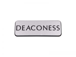 BADGE ENGRAVED CONTEMPORARY DEACONESS SILVER MAGNET