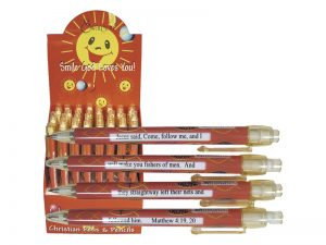 PEN MATT 4:19-20 FISH WINDOW LOGO PK40