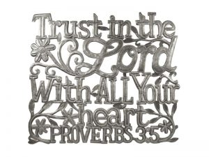 FTP HAND-HAMMERED DECOR PROVERBS 3:5