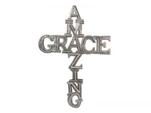 FTP HAND-HAMMERED DECOR CROSS AMAZING GRACE