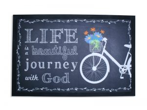 DOOR MAT BEAUTIFUL JOURNEY  28X18
