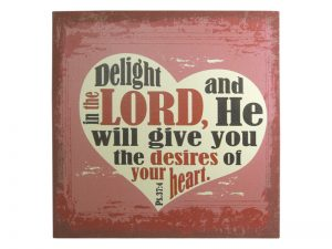 WALL DECOR LINEN PRINTING DELIGHT IN THE LORD