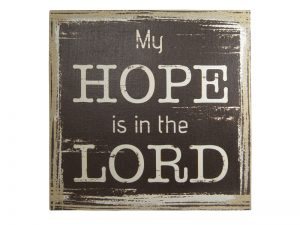 WALL DECOR LINEN PRINTING HOPE IN THE LORD
