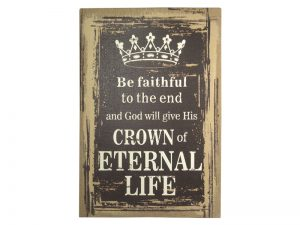 WALL DECOR LINEN PRINTING CROWN OF LIFE